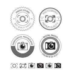 Set of photo logos labels vector