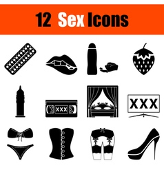 Set of sex icons vector