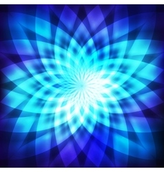 Cosmic blue flower vector