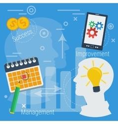 Business concept successful management vector