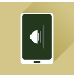 Flat icon with long shadow volume of mobile phone vector