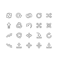 Line interface arrows icons vector