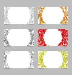 abstract card background template set with vector image vector image