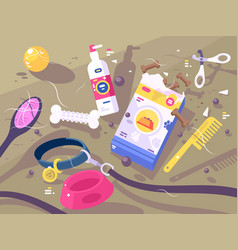 accessories for pet care vector image