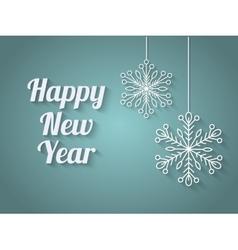 Beautiful elegant text design of happy new year vector image