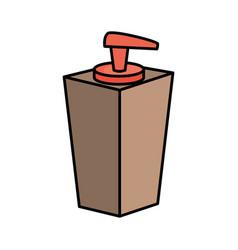 blank cream bottle vector image