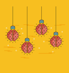 Brains hanging ideas vector
