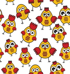 Chicken patter vector image vector image