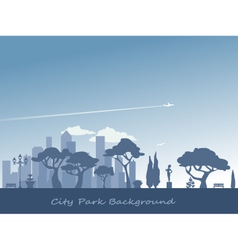 City and park background vector image