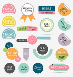 Collection of Sale Discount Styled origami Banners vector image vector image