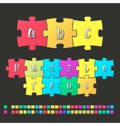 Colored alphabet puzzle vector
