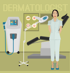 Dermatologist office image vector