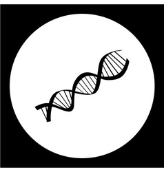 Dna research symbol simple black icon eps10 vector