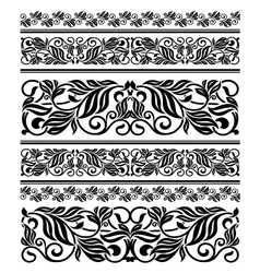 Floral ornament elements and embellishments vector image vector image