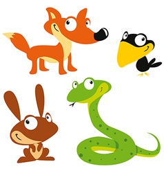 Forest animals vector