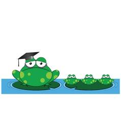 frog teacher vector image vector image