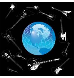 Globe ghost guitars vector