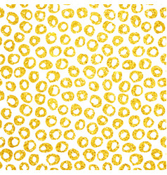 Gold hand drawn dots seamless pattern vector