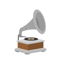 Gramophone vynil music device vector