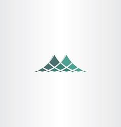 green halftone mountain icon logo vector image vector image