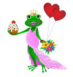 Happy birthday frog vector