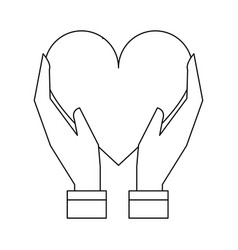 heart silhouette vector image