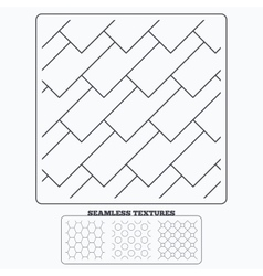 Hex diagonal rectangles and circles textures vector