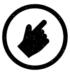 Index finger right up direction icon rubber stamp vector