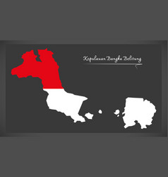 Kepulauan bangka belitung indonesia map with vector