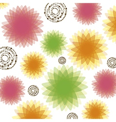 Lights glows and blurs in flowers vector