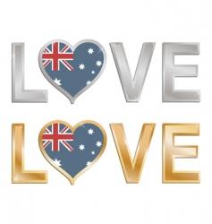 love Australia vector image vector image