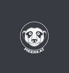 Meerkat logo icon design vector