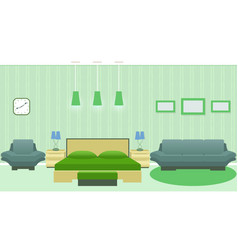 modern bedroom interior with furniture including vector image vector image