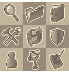 Monochrome internet icons vector image vector image