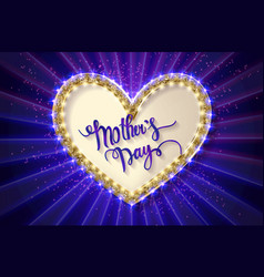 mothers day typographic card blue version vector image