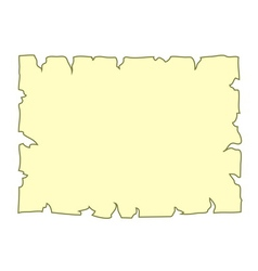 Parchment old paper Empty cartoon banner yellow vector image