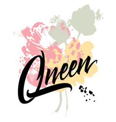 Queen abstract vector