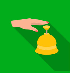 Reception bell icon in flat style isolated on vector