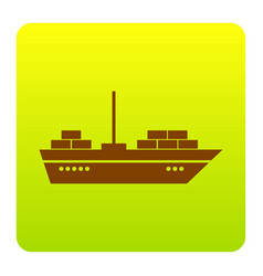 ship sign brown icon at vector image vector image