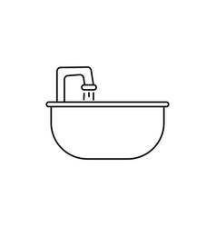 sink icon vector image vector image