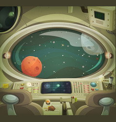 spaceship interior vector image