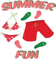 Summer fun vector