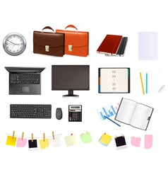super mega set business elements3 vector image vector image