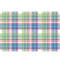 Tartan color plaid fabric seamless pattern vector