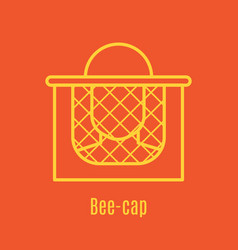 thin line icon bee cap vector image