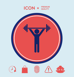 weightlifting dumbbell training icon vector image vector image