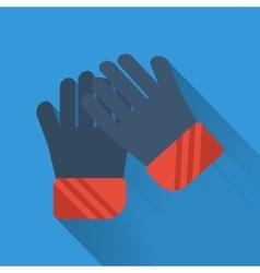 Winter flat icon - gloves vector
