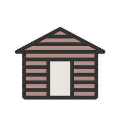wood cabin vector image vector image