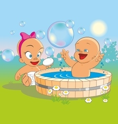 bathe vector image