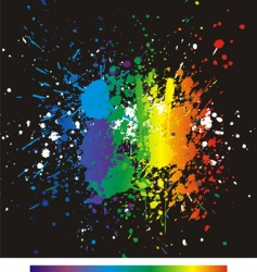 color paint splashes gradient backgrou vector image